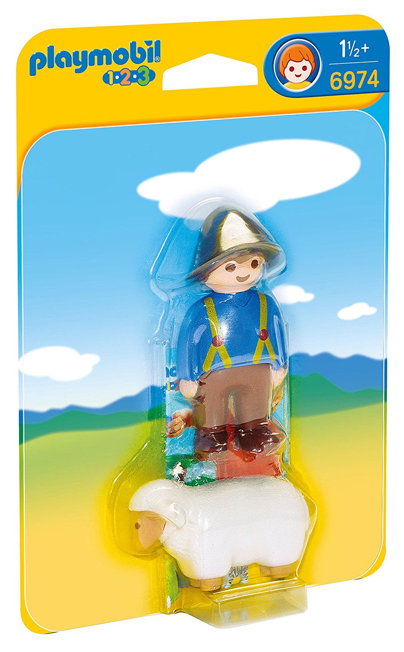 Playmobil - 1-2-3: Shepherd With Sheep