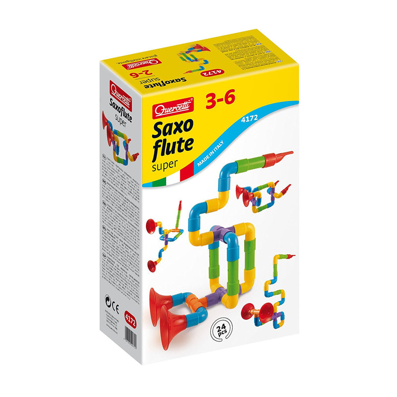 Quercetti - 4172 | Super Saxoflute (24 Pieces)