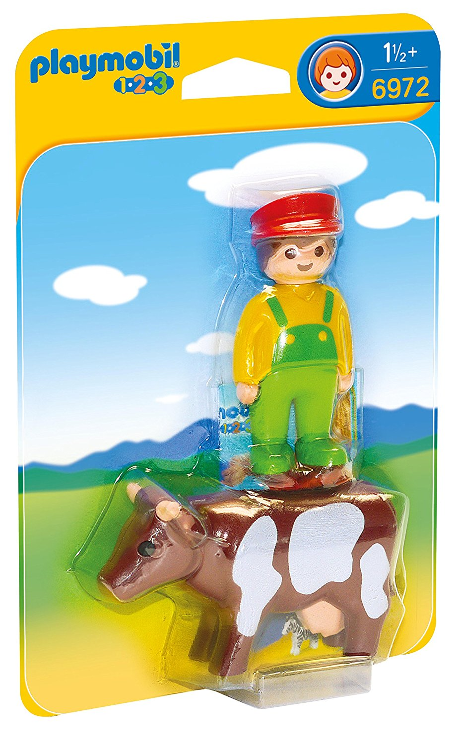 Playmobil - 1-2-3: Farmer With Cow