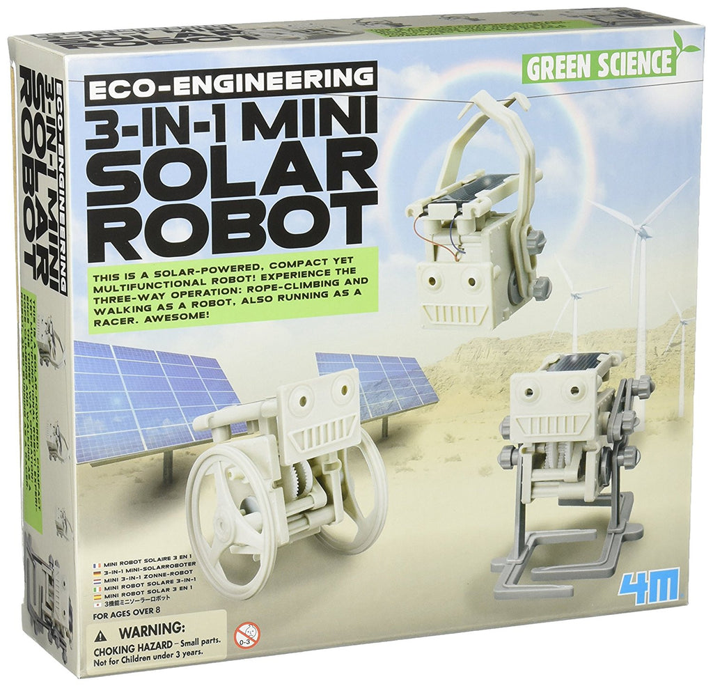 Eco-Engineering 3-In-1 Solar Robot