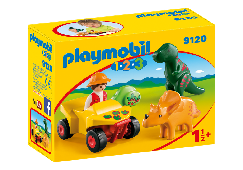 Playmobil 1-2-3: Explorer with Dinos