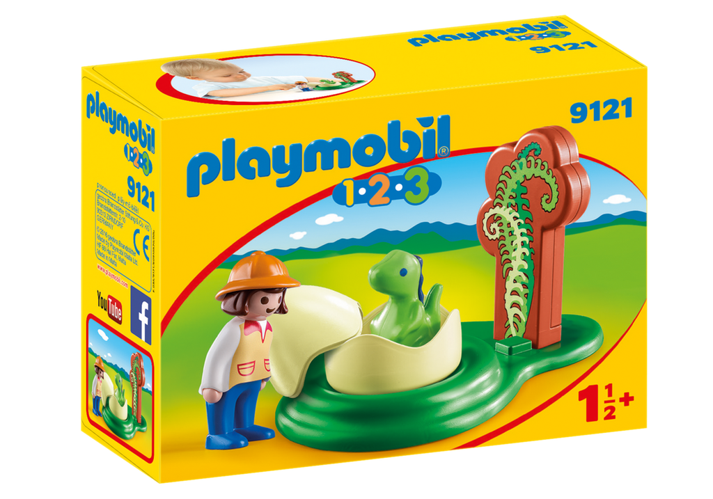 Playmobil 1-2-3: Girl with Dino Egg
