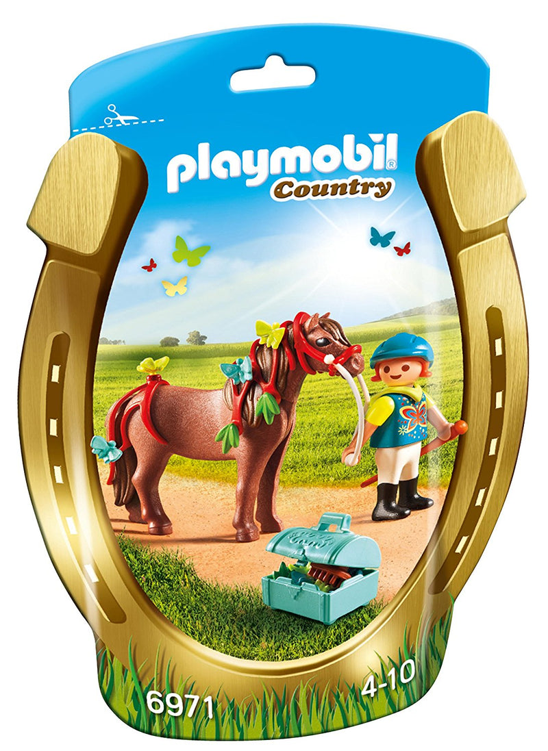 Playmobil - 6971 | Country: Groomer With Butterfly Pony