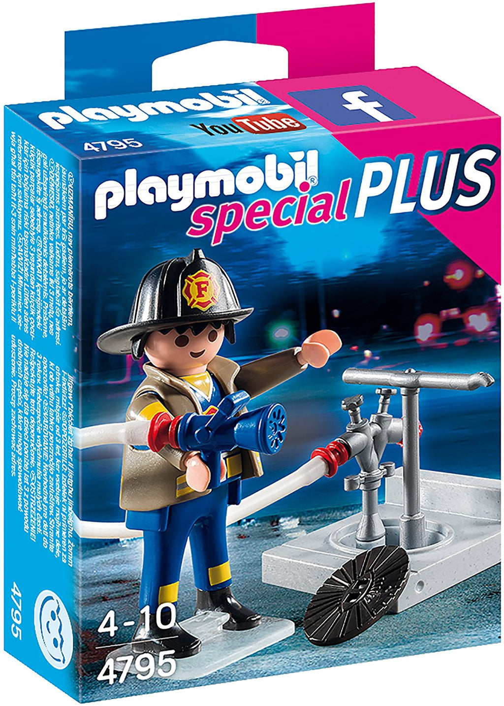 Playmobil - 4795 | Special Plus: Fireman With Hose