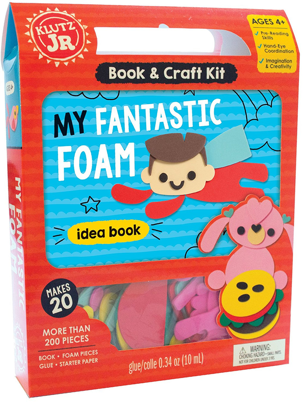 KLUTZ MY FANTASTIC FOAM BOOK & CRAFT KIT Castle toys