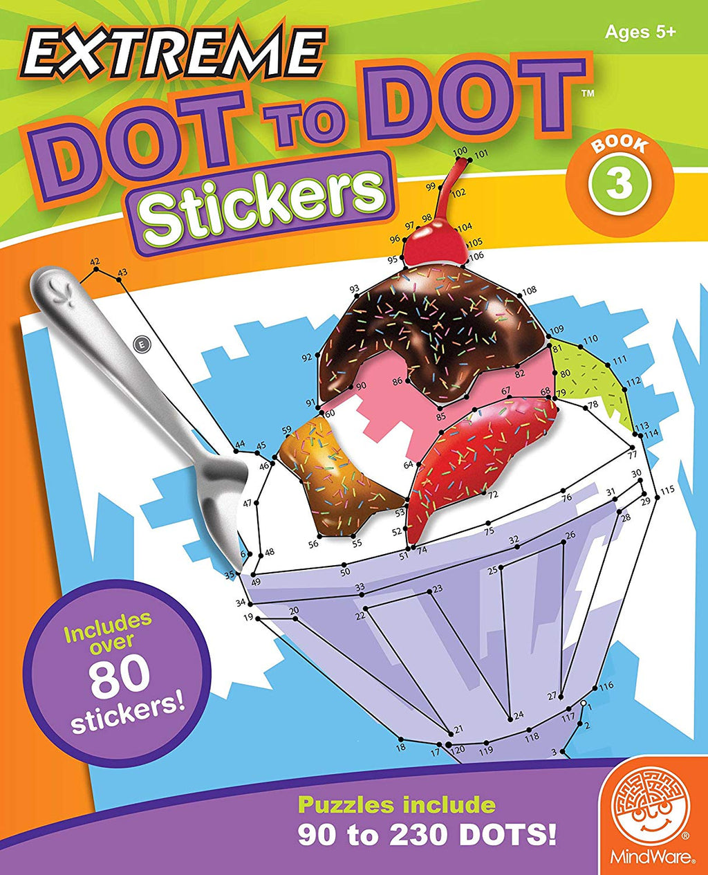 MindWare - MB-19230 | Extreme Dot to Dot Stickers: Book 3