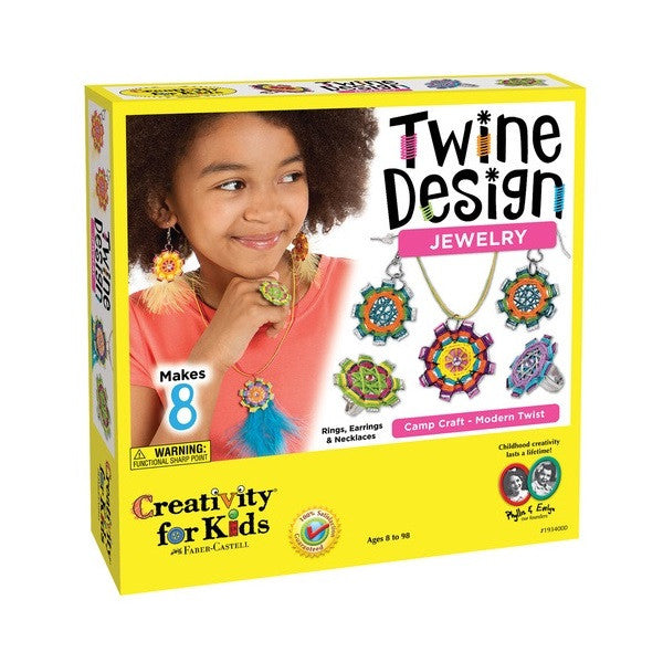 Creativity For Kids Twine Design Jewelry Camp Craft - Modern Twist - 1934