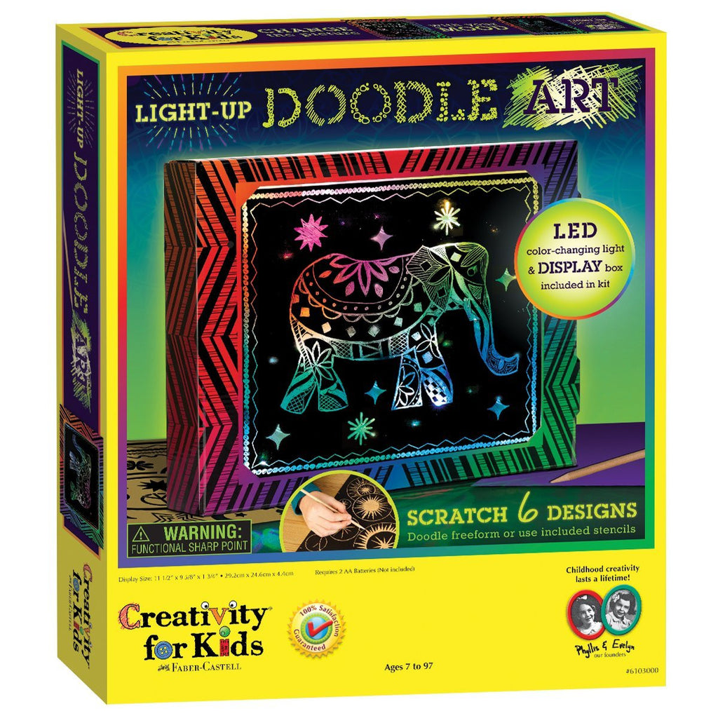 Creativity For Kids Light-Up Doodle Art Kit - 6103000