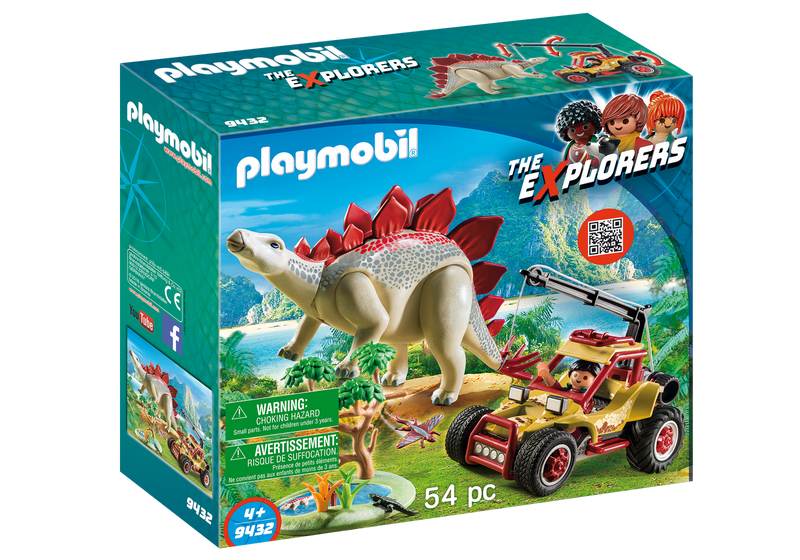Playmobil - 9432 | The Explorers: Explorer Vehicle with Stegosaurus