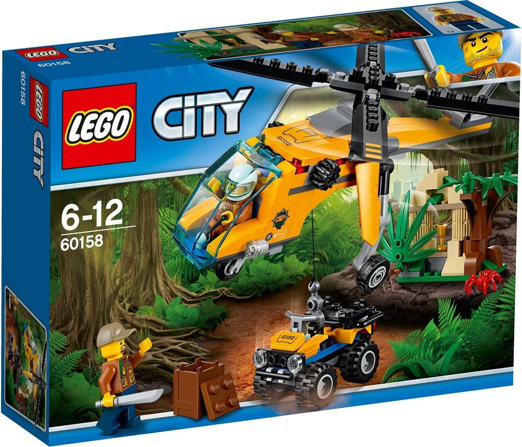 Lego Page 4 Castle Toys 10720 Juniors Police Helicopter Chase 60158 Jungle Cargo