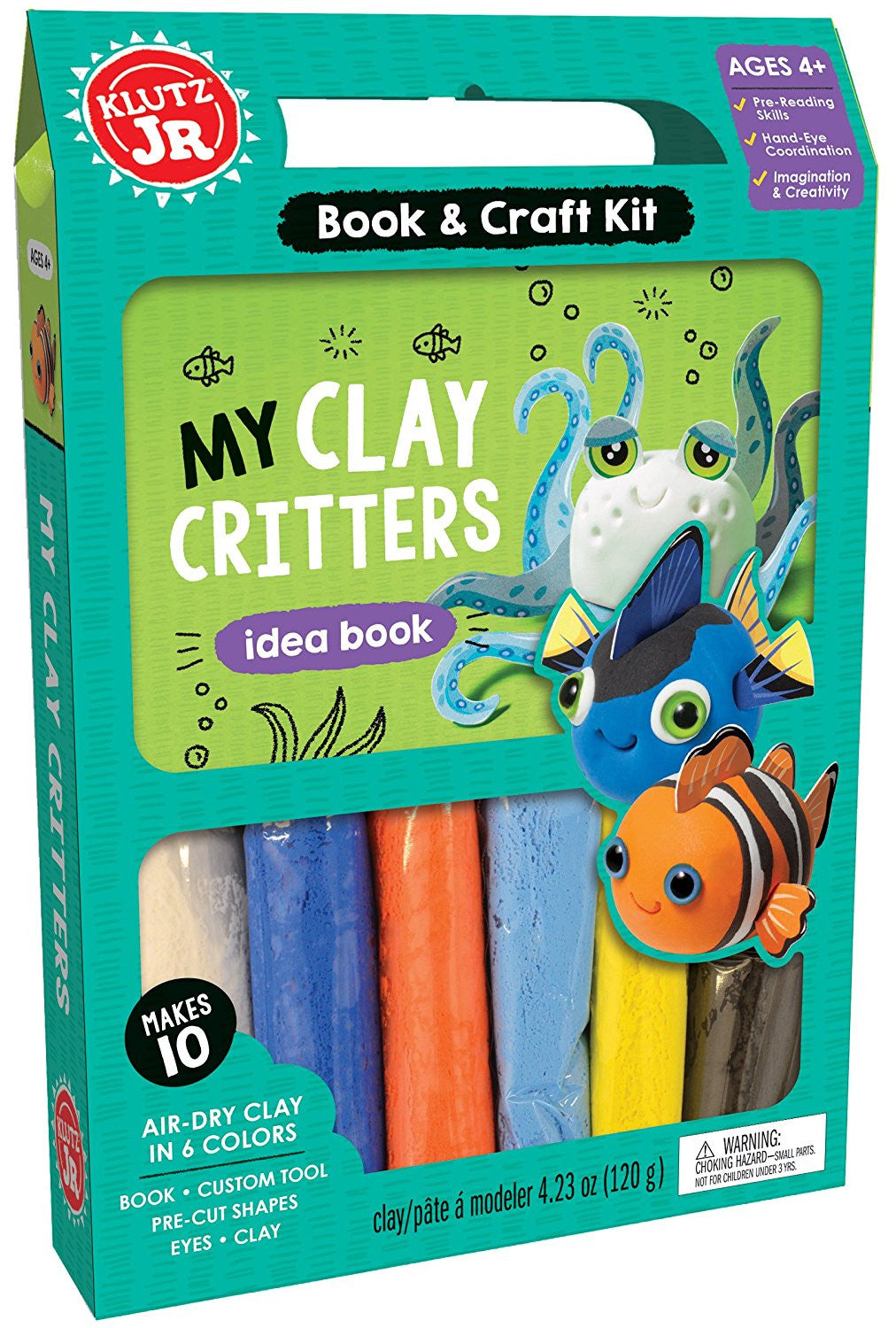 Klutz Jr. Book & Craft Kit My Clay Critters