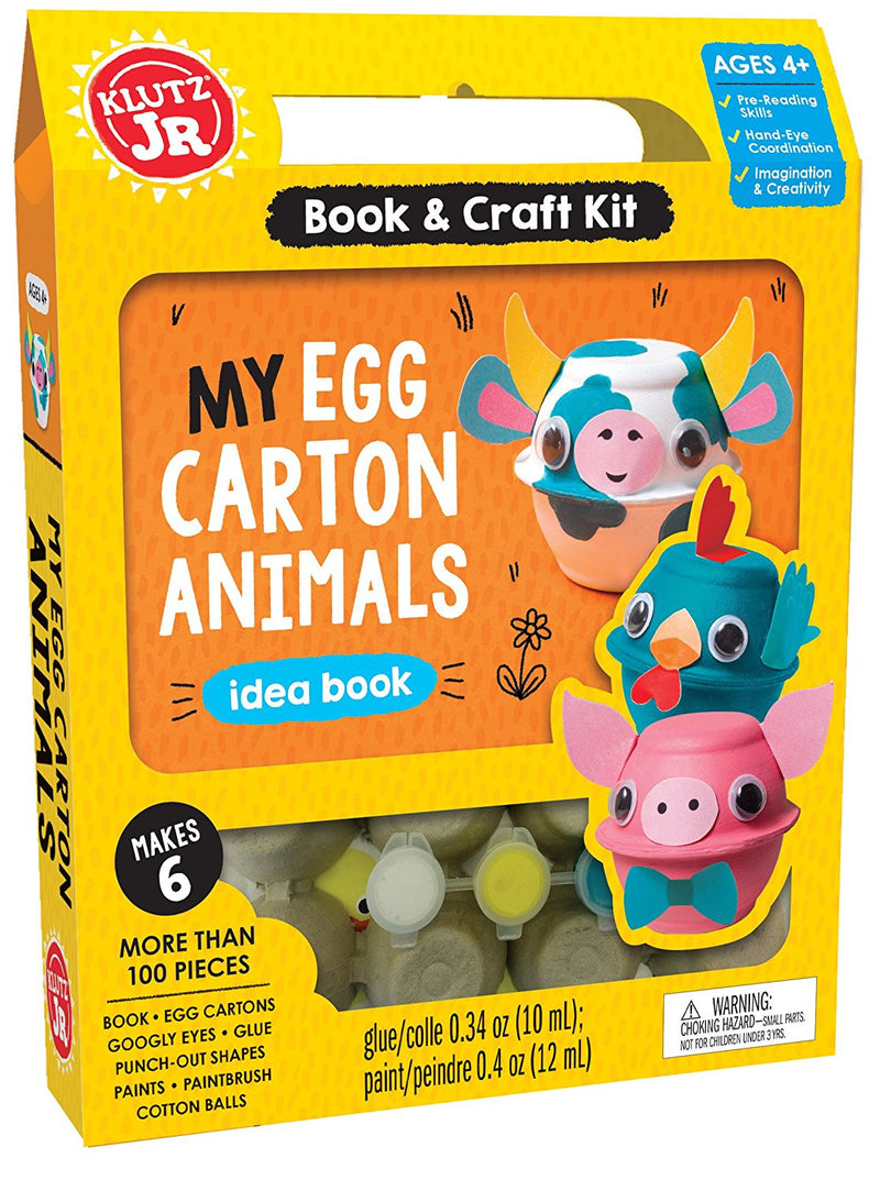 Klutz - 0545932440 | Book & Craft Kit My Egg Carton Animals Idea Book