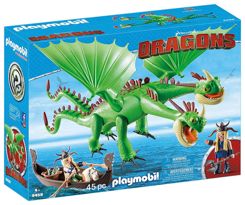 Playmobil - 9458 | DreamWorks Dragons: Ruffnut & Tuffnut With Barf & Belch