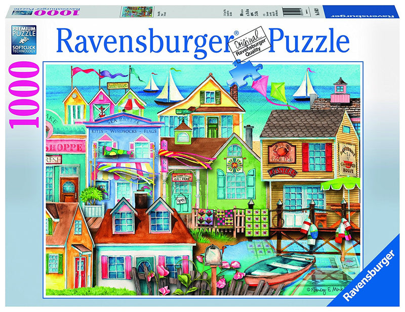 1000 piece puzzles can be enjoyed by adults and families alike. So how about a cosy family night with a colourful puzzle from our vast variety of travel destinations, landmarks, ocean waterscapes, famous cities or a favourite nostalgia or fantasy world puzzle? The finished puzzle is a perfect decoration for every living room.  We have over 40 fabulous 1,000 piece puzzles for you to choose from. Look for more 1000pc Puzzles from our Places & Views Collection. Finished Puzzle Size: 70 x 50 cm Box Size: 38 x 2