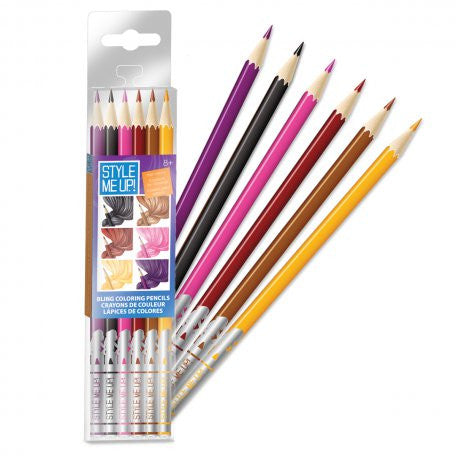 Style Me Up: Bling Coloring Pencil - Hair Colors