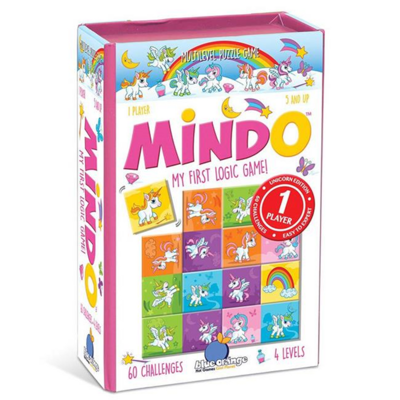 Blue Orange Games - BL-6504 | Mindo My First Logic Game - Unicorn Edition