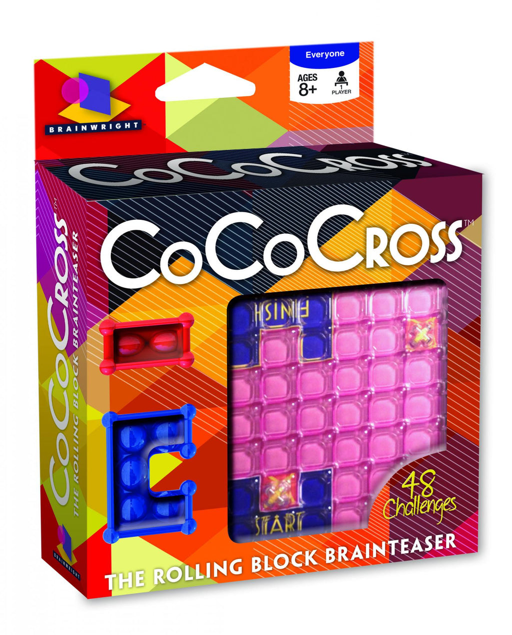 Brainwright - 83080 | CoCo Cross - The Rolling Block Brainteaser Puzzle