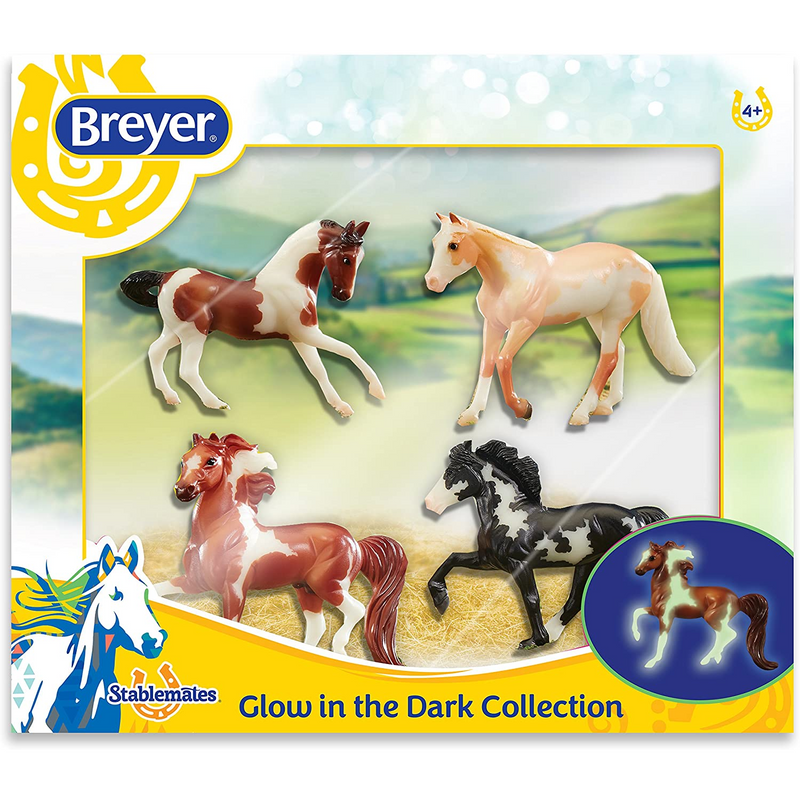 Breyer - 5396 | Stablemates: Glow In The Dark 4-Horse Set