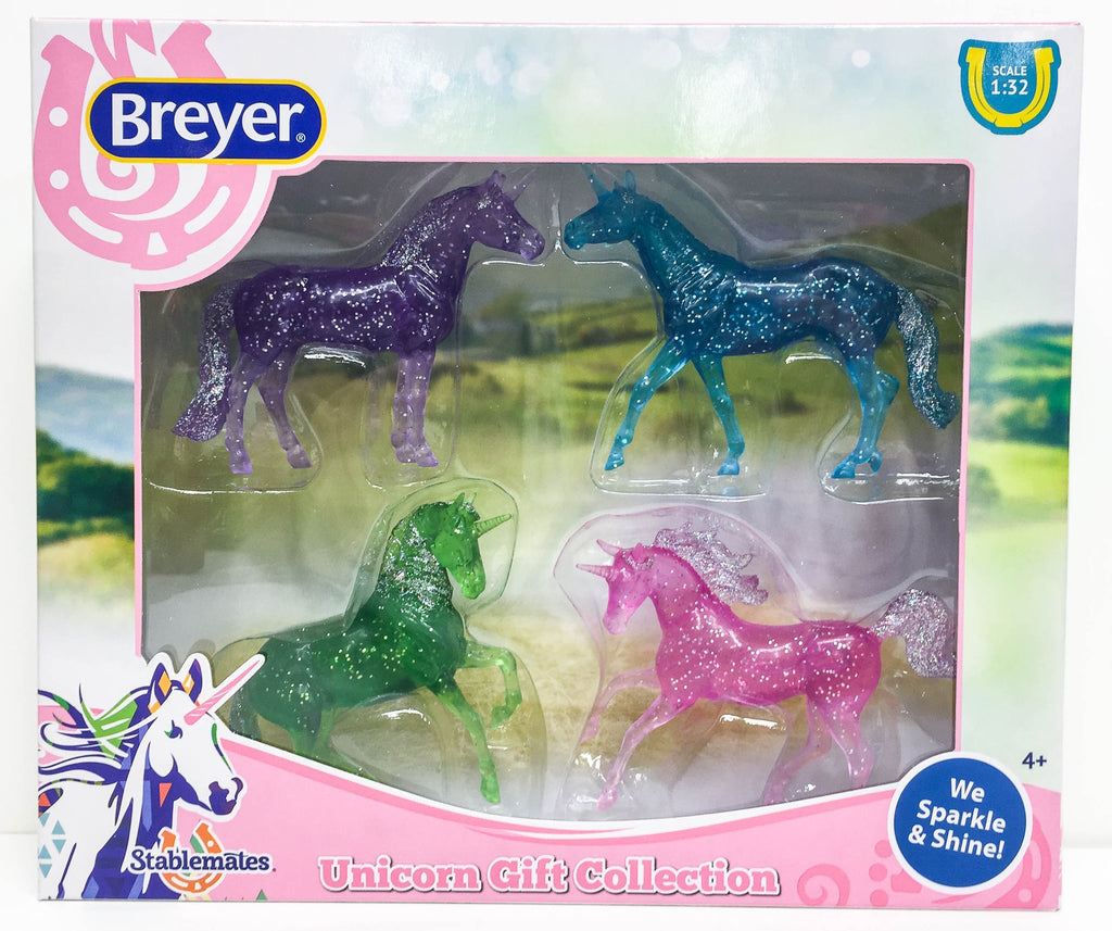 Breyer - 6048 | Stablemates: Glitter Unicorn Gift Collection Set