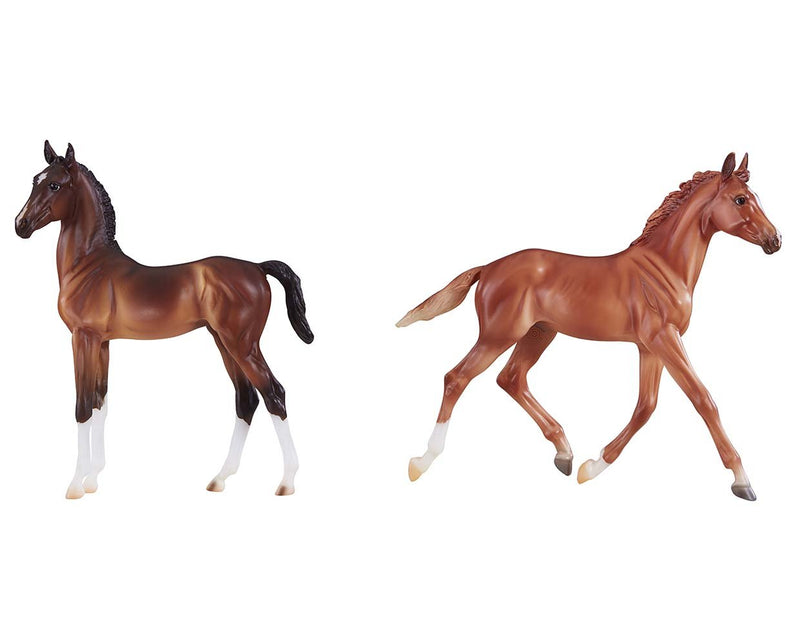 Breyer - 9198 | Traditional: Best of British Foal Set - Thoroughbred & Hackney