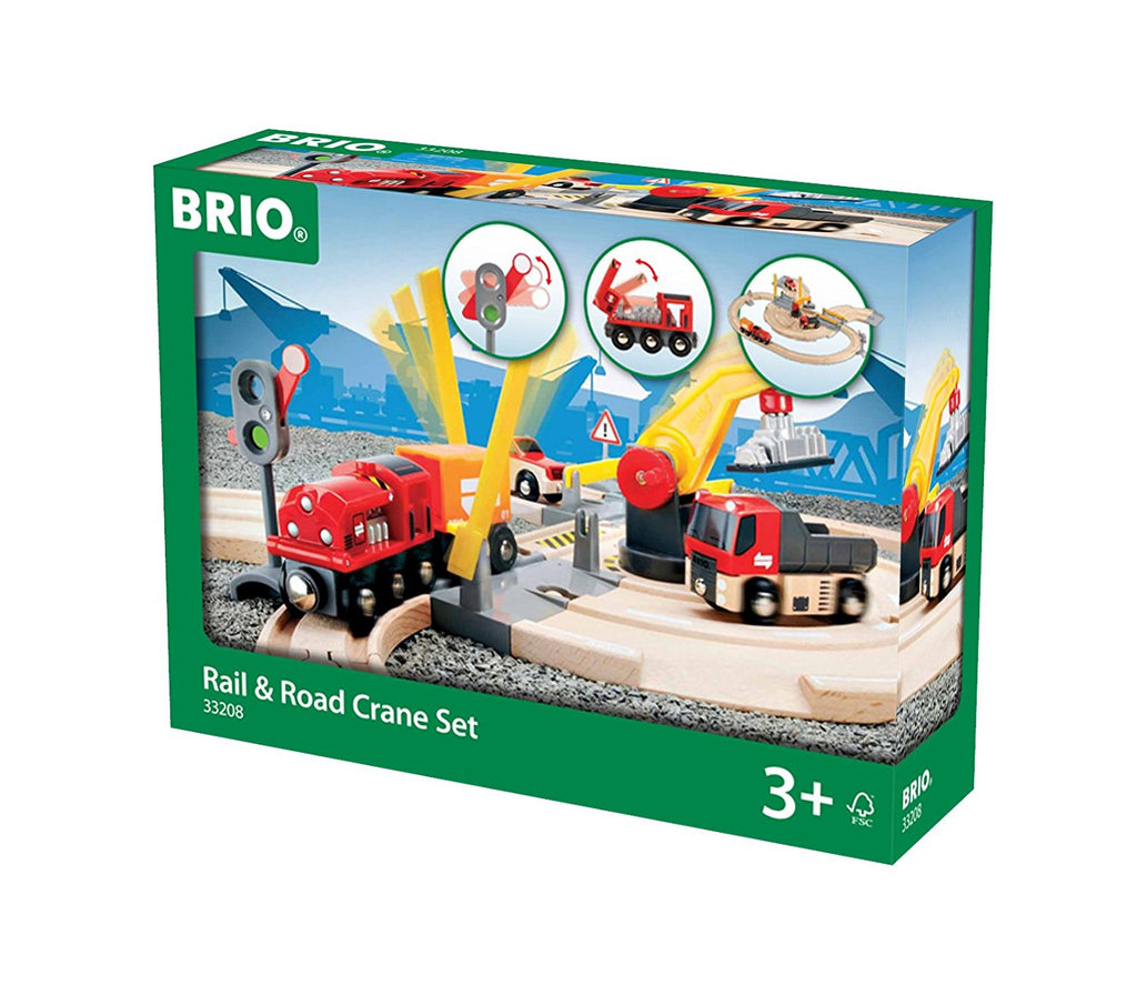 BRIO - 33208 | Rail & Road Crane Set