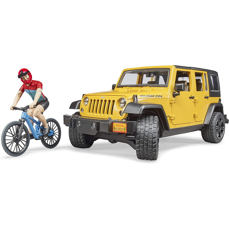 Bruder - 02543 | Jeep Rubicon with mountain bike and riding figure
