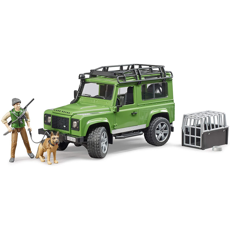 Bruder - 02587 | Forestry: Land Rover with Forester and Dog