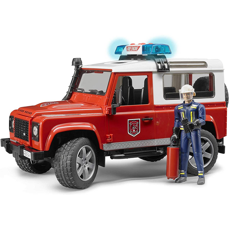 Bruder - 02596 | Land Rover Fire Department with Fireman