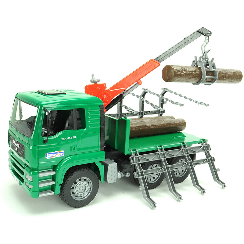Bruder - 02769 | Forestry: MAN Timber Truck With Loading Crane And Three Trunks