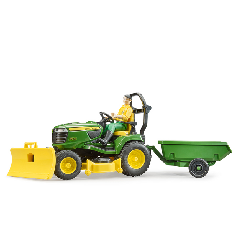 Bruder - 09824 | John Deere Lawn Tractor with Trailer and Figure