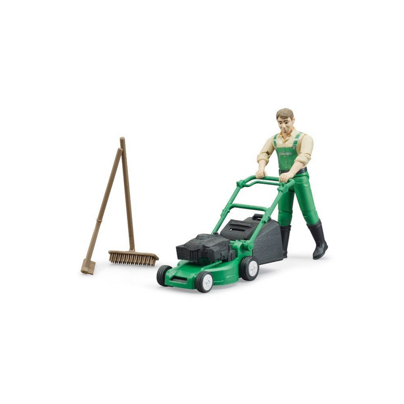 Bruder - 62103 | Bworld: Gardener with Lawnmower and Equipment