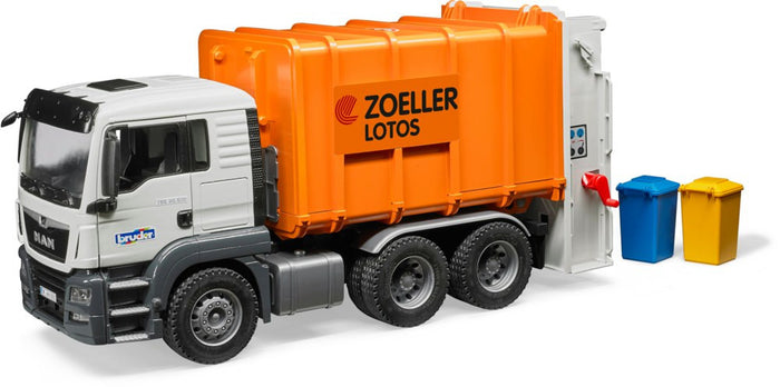 Bruder - 03762 | Commercial: MAN TGS Rear-Loading Garbage Truck - Orange