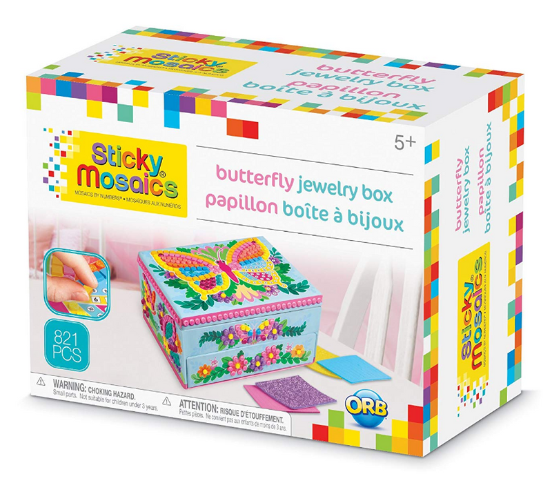 Orb Factory - 51105 | Sticky Mosaics Butterfly Jewelry Box