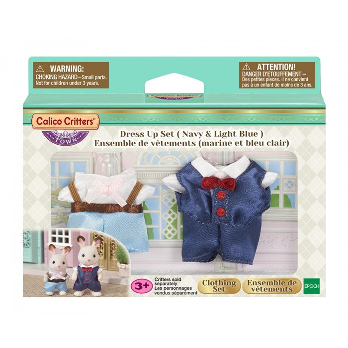 Calico Critters - CF3029 | Town Series: Dress Up Set - Navy & Light Blue