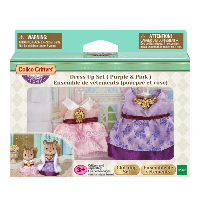 Calico Critters - CF3030 | Town Girl Series: Dress Up Set (Purple & Pink)