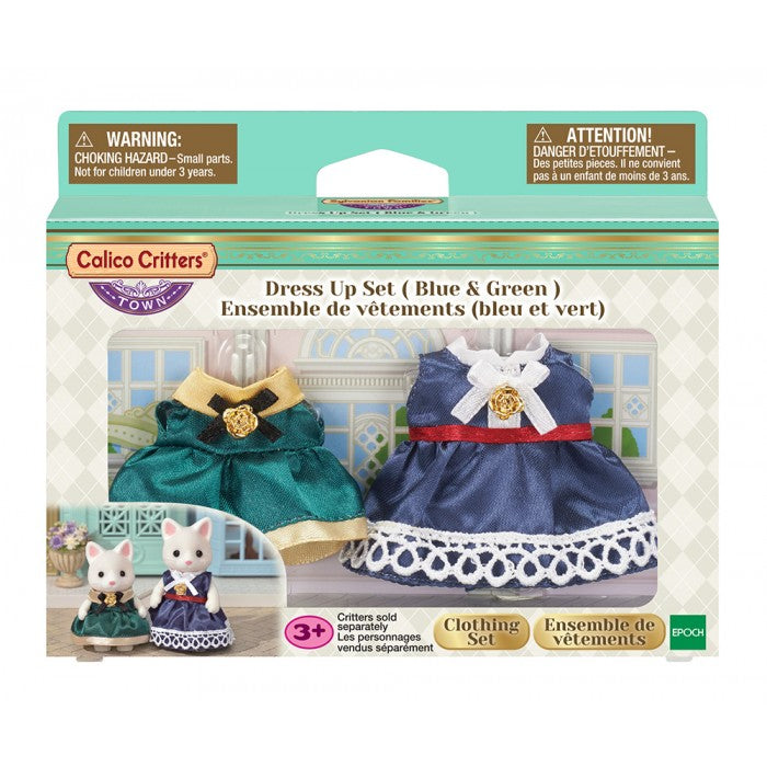 Calico Critters - CF3031 | Town Series: Dress Up Set (Blue & Green)