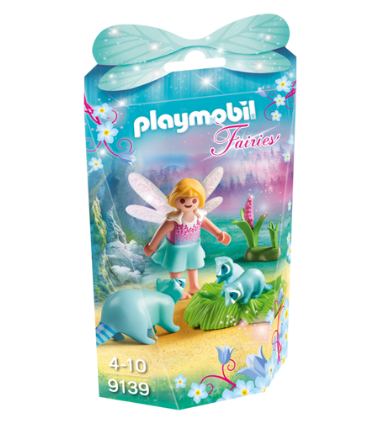 Playmobil - 9139 | Fairies: Fairy Girl With Raccoons