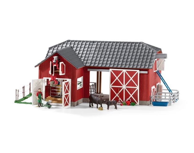 SCHLEICH LARGE FARM WITH BLACK ANGUS - 72102 Castle toys