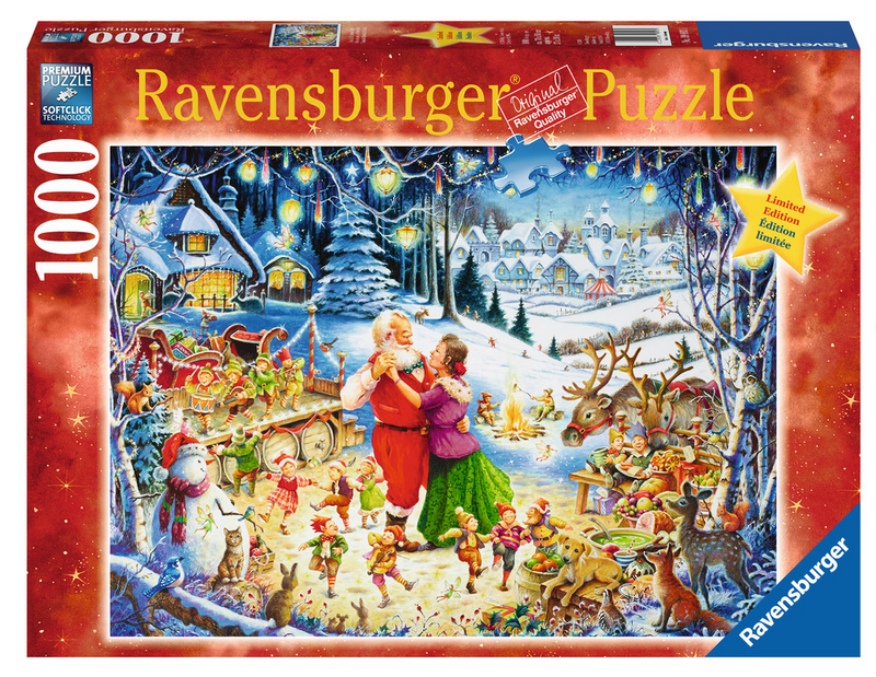 Ravensburger - 19893 | Santa's Christmas Party (1000 Piece Puzzle)
