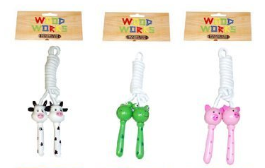 Wooden Animal Skipping Rope - Asst. Castle toys