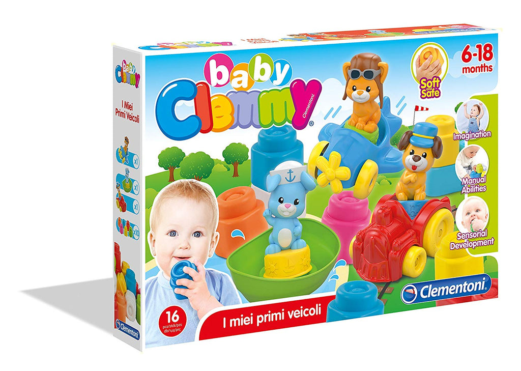 Clementoni - 17202 | Clemmy Animal Vehicles 18 piece