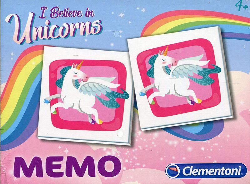 Clementoni - 18032 | Memo Unicorn Educational Game