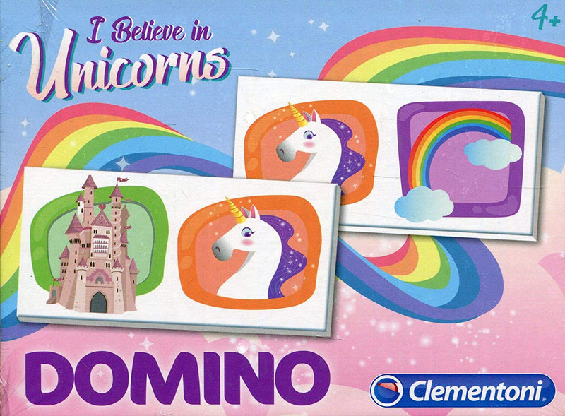 Clementoni - 18033 | Domino Unicorn Educational Game