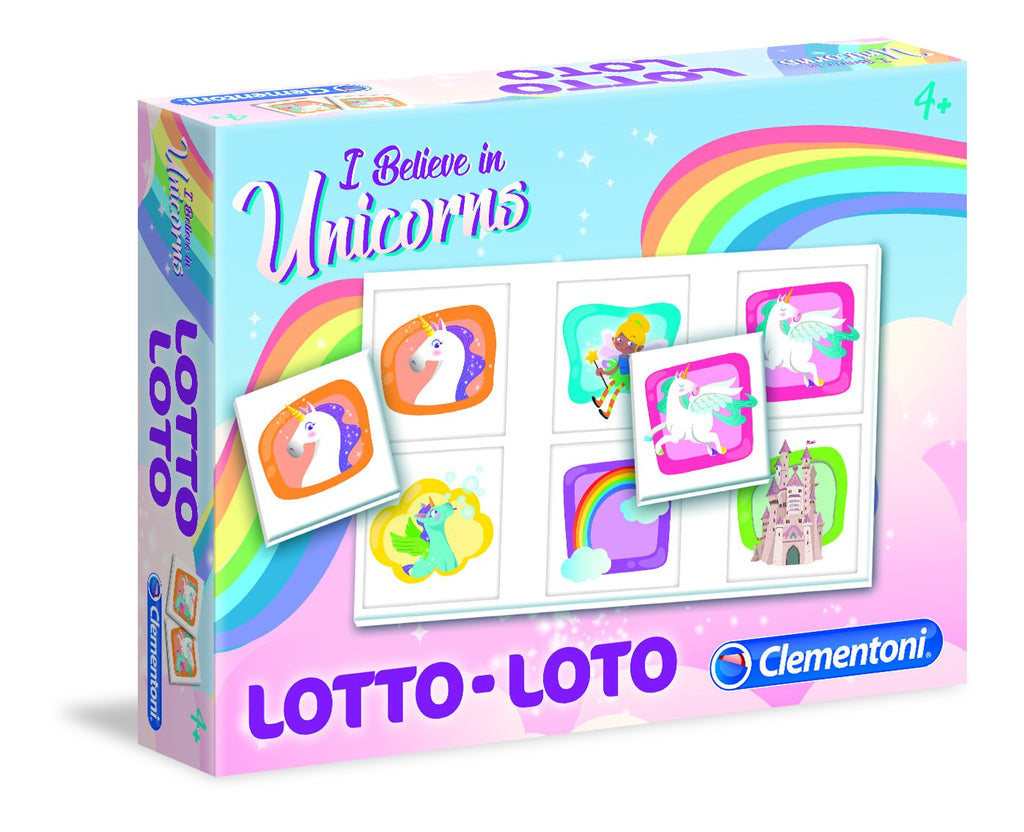Clementoni - 18034 | Lotto Loto Unicorn Educational Game