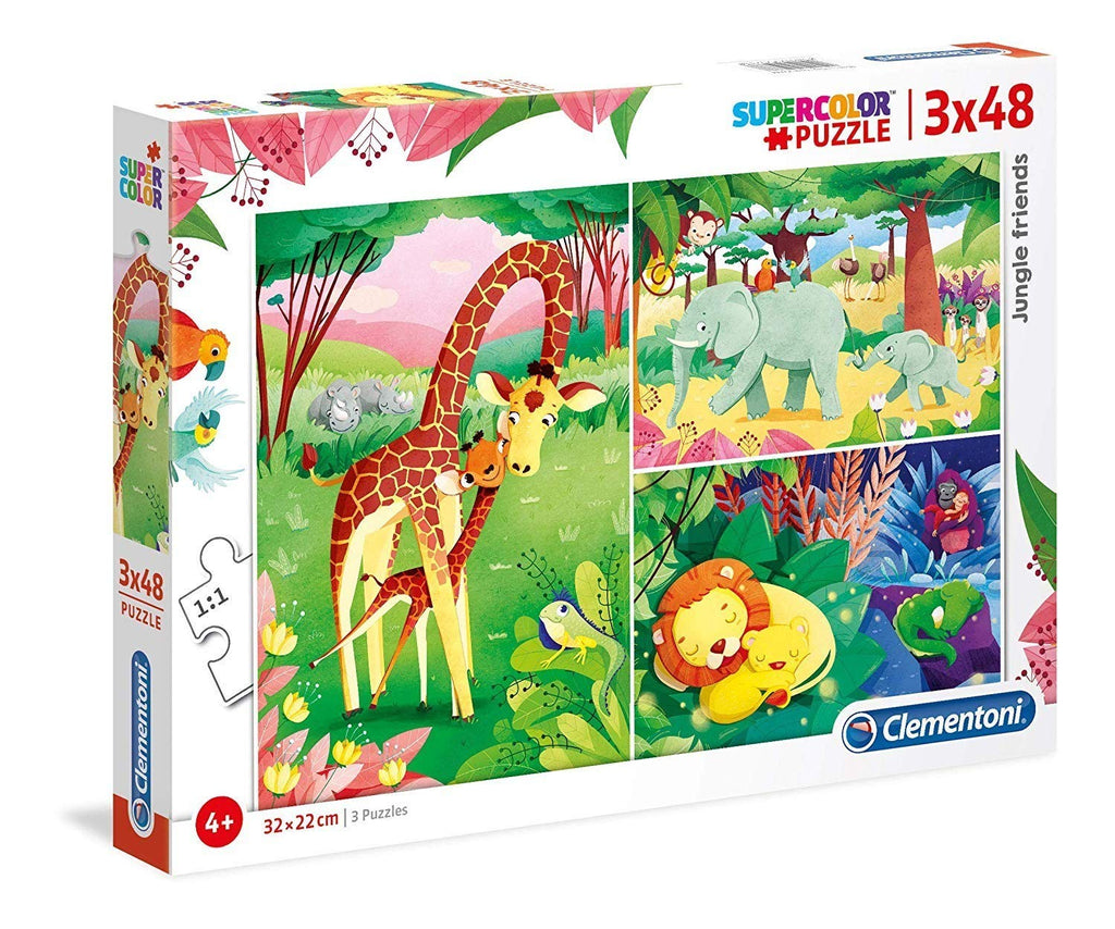 Clementoni - 252336 | Jungle Animals (3x48 Piece Puzzle)