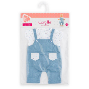 "Corolle - 140600 | Bebe 14"" Striped T-Shirt & Overalls"