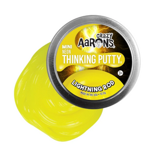 Crazy Aaron's Thinking Putty - LR003 | Mini Neon: Lightning Rod