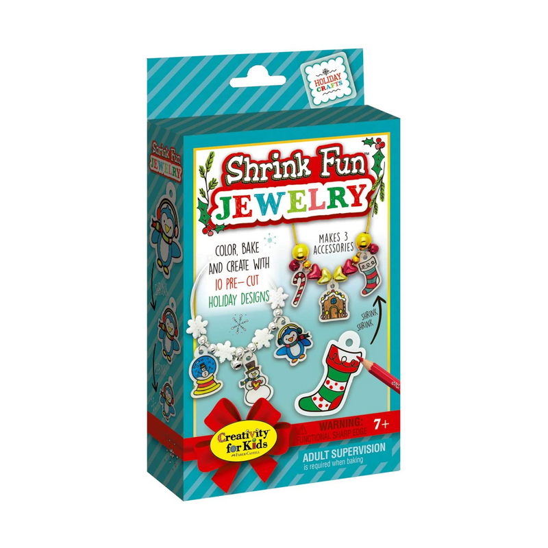 Creativity for Kids - 6189000 | Holiday Shrink Fun Jewelry Mini Kit