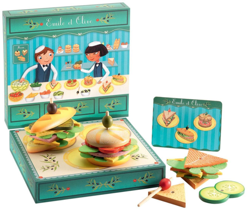 DJECO - DJ06620 | Emile And Olive Sandwich Shop Role Play Game