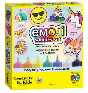 Creativity for Kids - 6176000 | Emoji Window Art - Paint Activity Set